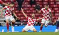 Ilustrační foto - Utkání fotbalového ME Chorvatsko - Skotsko v Glasgow, Nikola Vlašič (uprostřed) se raduje z gólu.