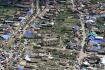 Moravská Nová Ves na Břeclavsku na leteckém snímku z 26. června 2021. Vesnici ve čtvrtek zasáhlo tornádo.