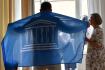 Starostové tří lázeňských měst, Karlových Varů a Mariánských a Františkových Lázní,  oslavili 24. července 2021 v Karlových Varech zápis na seznam kulturního dědictví UNESCO v rámci mezinárodní řetězové nominace Slavné lázně Evropy. Na snímku je starosta Františkových Lázní Jan Kuchař.