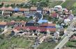 Obec Hrušky na Břeclavsku (na leteckém snímku z 26. července 2021), kterou před více než měsícem zasáhlo tornádo.