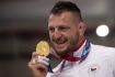 Letní olympijské hry Tokio 2020, 30. července 2021. Judo, nad 100 kg muži, finále. Lukáš Krpálek z ČR, který porazil Gurama Tušišviliho z Gruzie, se zlatou medailí.