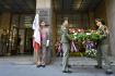 Před budovou Českého rozhlasu v Praze se 21. srpna 2021 konala vzpomínková akce k uctění památky obětí invaze vojsk Varšavské smlouvy na území Československa v roce 1968.