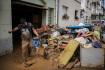 Následky záplav po přívalových deštích ve španělském městě Alcanar.