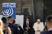 Papež František při setkání se zástupci židovské komunity v Bratislavě.