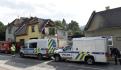 Kriminalisté pokračovali16. září 2021  v ohledávání zbytků domu v Koryčanech na Kroměřížsku, který zničil výbuch.