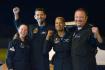 Civilní posádka lodi Crew Dragon po přistání 18. září 2021. Zleva Hayley Arceneauxová, Jared Isaacman, Sian Proctorová a Chris Sembroski.