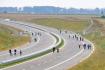 Na dálnici D11 se na dokončovaném úseku z Hradce Králové do Smiřic konal 25. září 2021 den otevřených dveří.