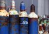 Ilustrační foto - Uskladněné plynové lahve - ilustrační foto.