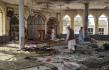 Následky výbuchu v šíitské mešitě v severoafghánské provincii Kunduz, 8. října 2021.
