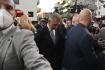 Premiér a předseda hnutí ANO Andrej Babiš přichází do volebního štábu hnutí během voleb do Poslanecké sněmovny, 9. října 2021, Praha.