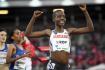 Atletka Agnes Tiropová z Keni na snímku z 30. května 2019.Dvojnásobná bronzová medailistka z mistrovství světa a čtvrtá žena ze závodu v běhu na 5000 metrů na nedávných olympijských hrách v Tokiu Agnes Tiropová z Keni byla nalezena mrtvá ve svém domě v Itenu.