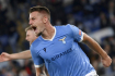 Utkání8. kola italské fotbalové ligyLazio Řím - Inter Milán. Fotbalista Lazia Sergej Milinkovič-Savič se raduje z gólu.