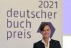 Německá spisovatelka Antje Rávik Strubelová na vyhlášení knižních cen za letošní rok 18. října 2021 ve Frankfurtu nad Mohanem.