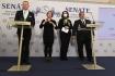 Předsedasenátní ústavní komiseZdeněk Hraba (vlevo) vystoupil19. října 2021 v Prazena tiskové konferenci kmožnostem zajištění výkonu pravomocí hlavy státu.