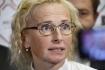 Předsedkyní komunistů se 23. října 2021 na mimořádném sjezdu KSČM stala europoslankyně Kateřina Konečná (na snímku z 9. října 2021).