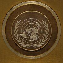 Logo Organizace spojených národů (OSN).
