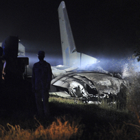 Nehoda vojenského letounu Antonov An-26 u města Čugujev na východě Ukrajiny 25. září 2020.