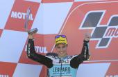 Španělský motocyklista Joan Mir, šampion třídy Moto3.