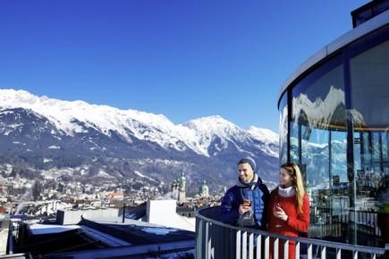 Zimní pohled na Innsbruck (c) Innsbruck Tourismus