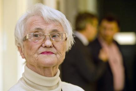 Zdena Mašínová (na snímku z 3. května 2016) u Okresního soudu v Kolíně.