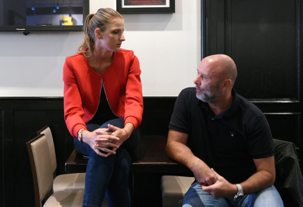 Tenistka Karolína Plíšková a její bývalý trenér David Kotyza.