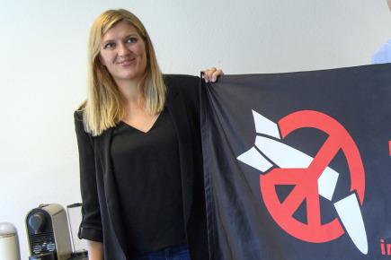 Beatrice Fihnová, ředitelka Mezinárodní kampaně za zrušení jaderných zbraní (ICAN).