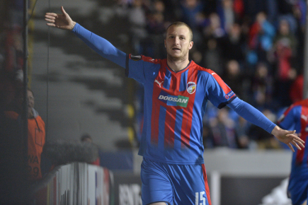Fotbalista Plzně Michael Krmenčík.