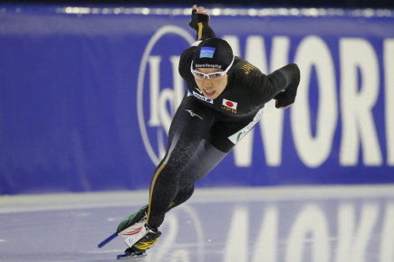 Rychlobruslařka Nao Kodairaová z Japonska.