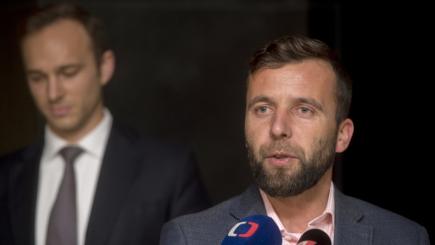 Dosavadní místopředseda Jan Říčař (vlevo) byl 11. listopadu v Praze zvolen novým předsedou pražského hnutí ANO. Místopředsedou byl zvolen Miroslav Nauč (vpravo).