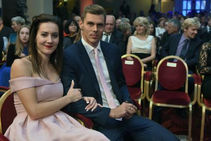 Vítěz ankety Atlet roku byl vyhlášen 11. listopadu na galavečeru v Praze. Na snímku jsou atleti Denisa Rosolová a Adam Sebastian Helcelet.