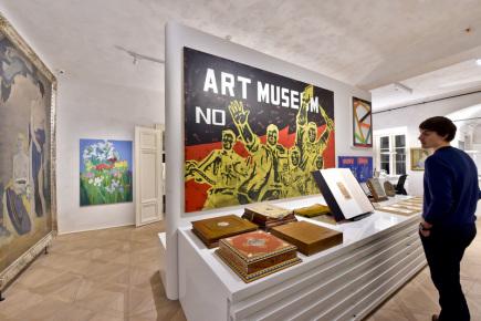 Galerie Zdeněk Sklenář otevírá nové výstavní sály v Mikulandské ulici v Praze (na snímku ze 7. prosince).