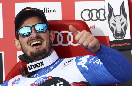 Italský lyžař Dominik Paris