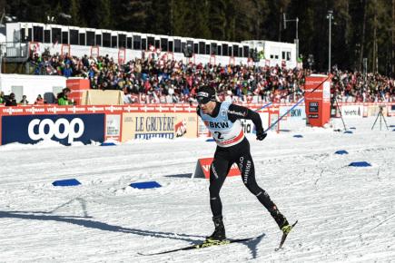 Švýcarský lyžař Dario Cologna.