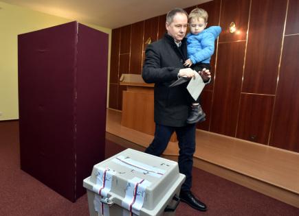 Předseda hnutí Starostové a nezávislí (STAN) Petr Gazdík odevzdal 12. ledna 2018 svůj hlas v prvním kole prezidentských voleb v obci Suchá Loz na Uherskohradišťsku.