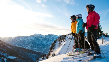 V lyžařské oblasti Kasberg