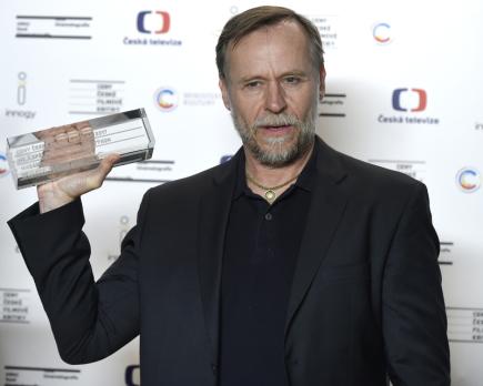 Herec Karel Roden převzal 27. ledna 2018 v Praze cenu od české filmové kritiky za nejlepší mužský herecký výkon uplynulého roku ve filmu Křižáček.
