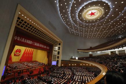 Plenární zasedání čínského parlamentu v Pekingu.