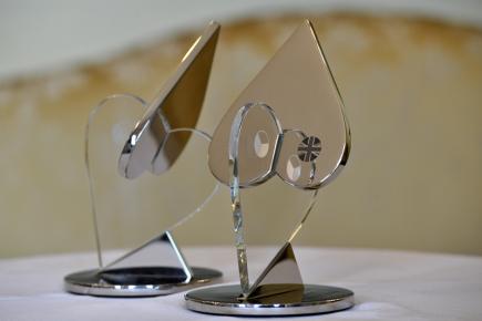 Ocenění za výjimečné příspěvky k prosazování společných česko-britských hodnot. Trofej pro vítěze, tvořená spojenými srdci, je dílem známé české architektky žijící v Británii Evy Jiřičné.