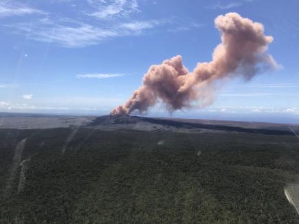 Sopka Kilauea na ostrově Havaj na snímku ze 3. května 2018.