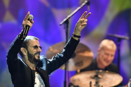 Britský zpěvák Ringo Starr a jeho All Star Band vystoupili 19. června 2018 v Kongresovém centru v Praze.