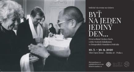 Tibet open house vystaví fotografie prvního setkání Jeho Svatosti dalajlamy s Václavem Havlem