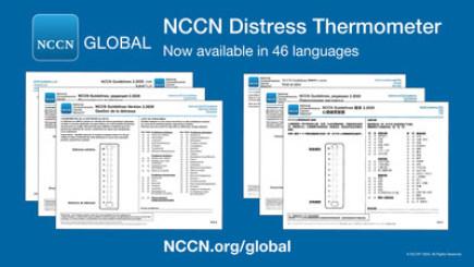 Nástroj organizace NCCN, přeložený do mnoha jazyků, pomáhá zjišťovat známky úzkostných stavů u lidí s nádorovým onemocněním