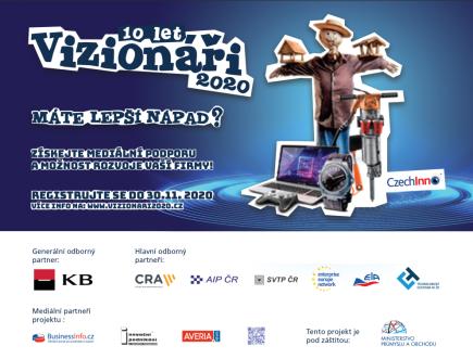 CzechInno vyhlašuje Vizionáře 2020