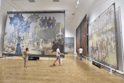 Slovanská epopej je opět k vidětní na zámku v Moravském Krumlově