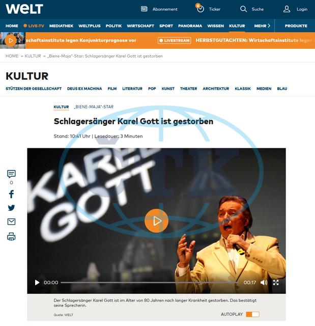 Webová stránka pro média