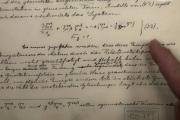 Historický dokument vztahující se k Einsteinově předpovědi existence tzv. gravitačních vln.