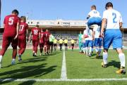 Fotbalový turnaj CEE Cup. Na snímku nastupují hráči pražské Sparty (vlevo v rudých dresech) a bosenského FK Sarajeva.
