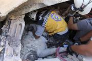 Exploze muničního skladu v syrské provincii Idlib.