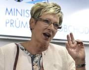 Ministryně průmyslu a obchodu Marta Nováková.
