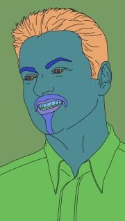 Portrét zpěváka George Michaela od umělce Michaela Craiga-Martina, který je součástí sbírky moderního britského umění z pozůstalosti zpěváka George Michaela.